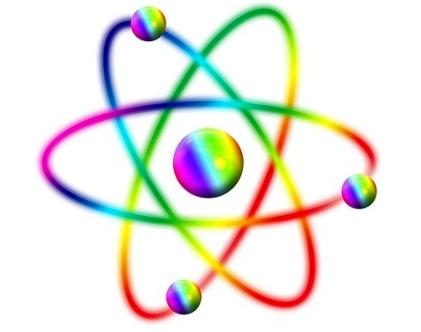 значок атома. иллюстрация